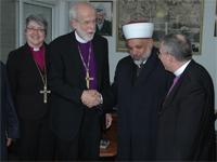 Bishop Hanson meets Muslim and Christian Leaders in Palestine