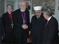 Bishop Hanson meets Muslim and Christian Leaders in Palestine