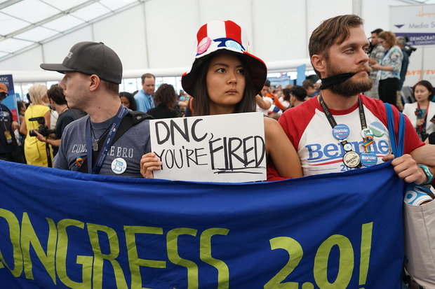 Many younf Democrats were unhappy when Cinton secured the nomination