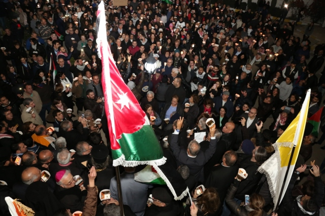 JORDAN PROTEST JERUSALEM CAPITAL