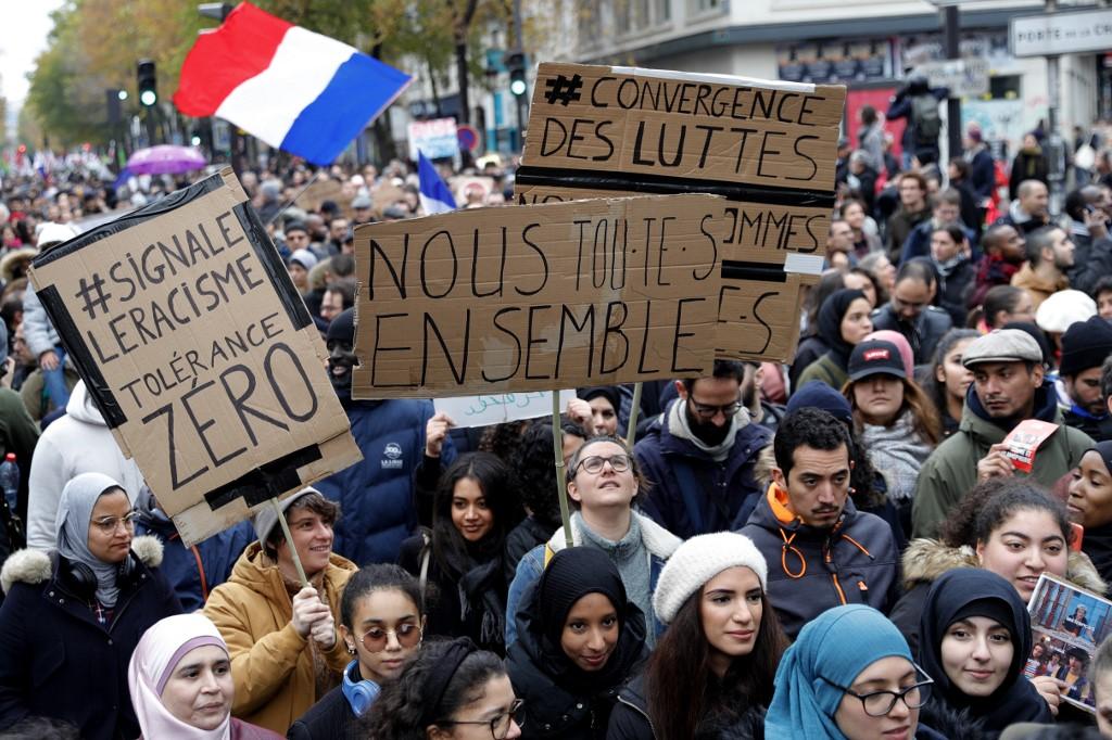 FRANCE-SOCIAL-RELIGION-ISLAM-POLITICS-DEMO