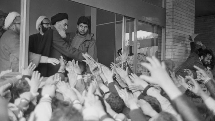 Ayatollah Khomeini Returns to Iran During Iranian Revolution